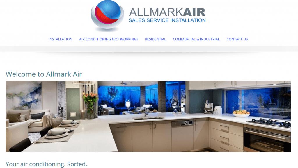 Allmark Air website