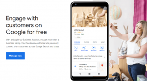 Google My Business - signup page